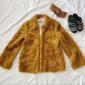 Vintage Vegan Teddy Bear Oversized Coat Jacket